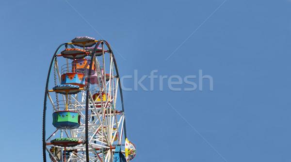 Blue sky cópia espaço fundo azul feira Foto stock © speedfighter