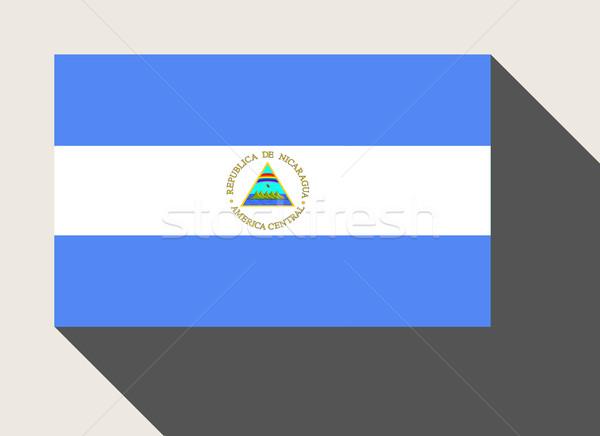 Nicaragua zászló web design stílus gomb Stock fotó © speedfighter