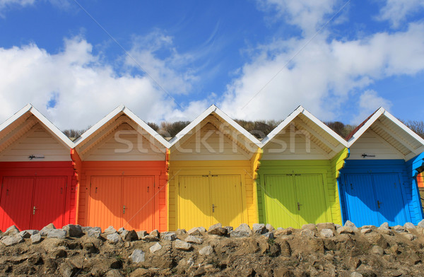Foto stock: Colorido · praia · blue · sky · verão
