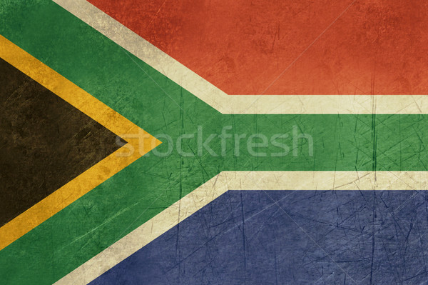 Grunge South Africa vlag land officieel kleuren Stockfoto © speedfighter