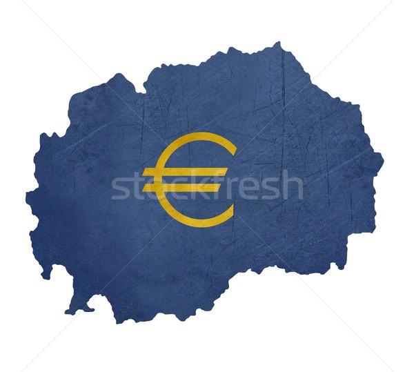 европейский валюта символ карта Македонии изолированный Сток-фото © speedfighter