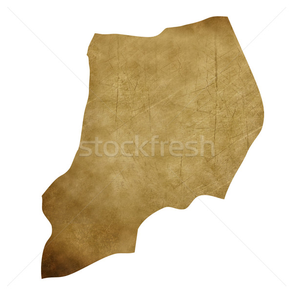 Uganda grunge mappa del tesoro mappa tesoro stile Foto d'archivio © speedfighter