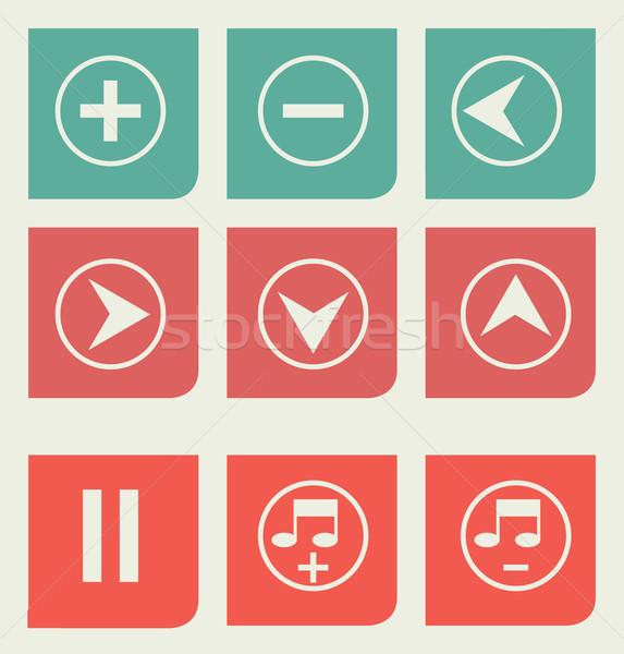 Flat design music buttons Stock photo © speedfighter