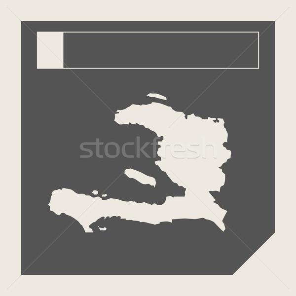 Haiti harita düğme duyarlı web tasarım yalıtılmış Stok fotoğraf © speedfighter