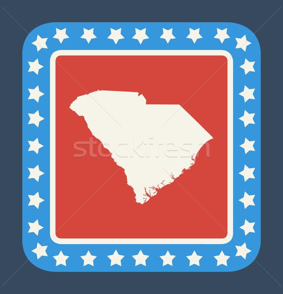 South Carolina knop Amerikaanse vlag web design stijl geïsoleerd Stockfoto © speedfighter