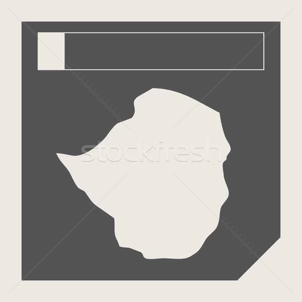 ジンバブエ 地図 ボタン 敏感な Webデザイン 孤立した ストックフォト © speedfighter