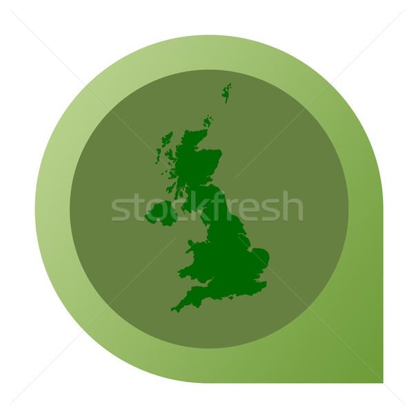 Isolado Reino Unido mapa marcador pin web design Foto stock © speedfighter