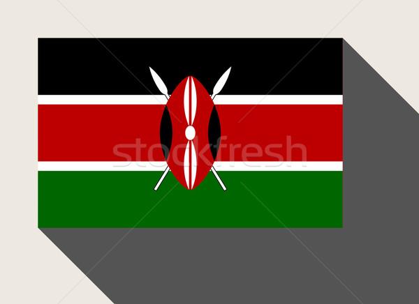 Kenia banderą web design stylu Pokaż przycisk Zdjęcia stock © speedfighter