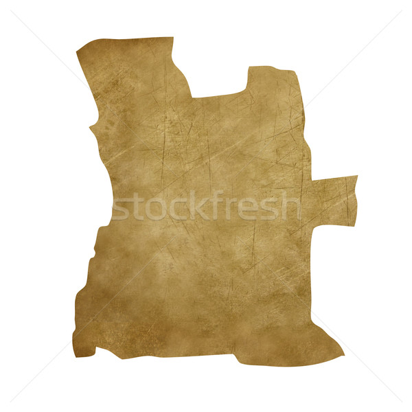 Ангола Гранж Карта сокровищ карта сокровище стиль Сток-фото © speedfighter
