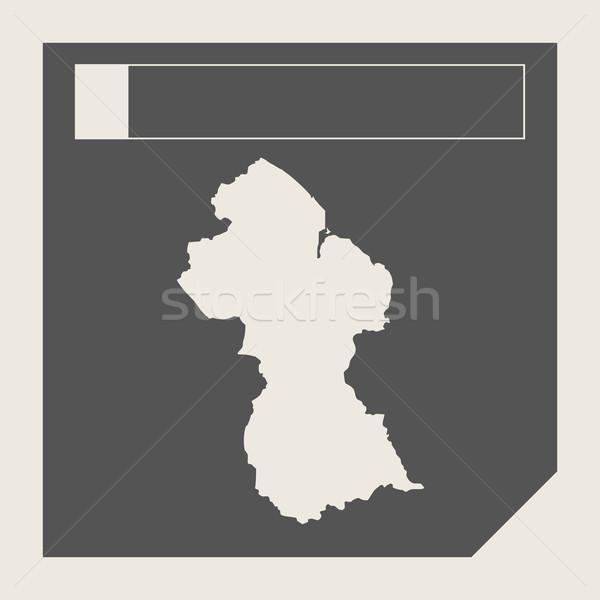 Guiana mapa botão responsivo web design isolado Foto stock © speedfighter
