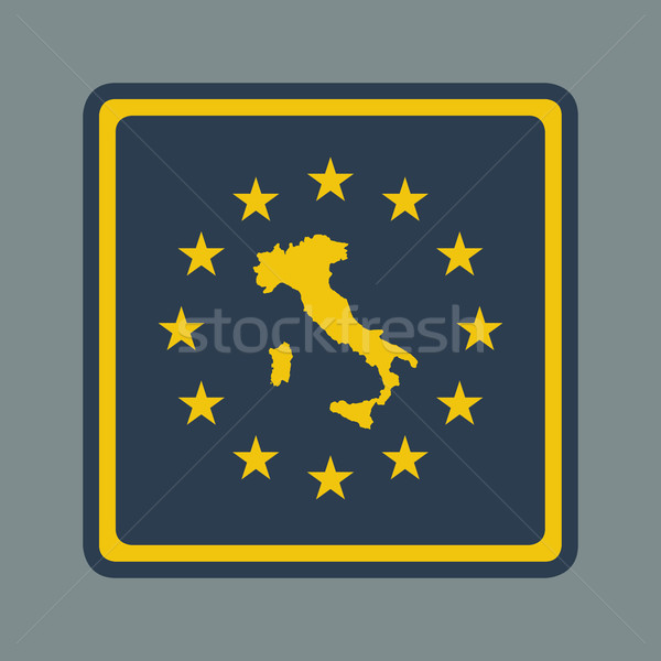 Olaszország európai zászló gomb reszponzív web design Stock fotó © speedfighter