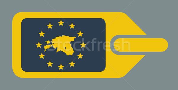 Эстония европейский Камера Label путешествия тег Сток-фото © speedfighter
