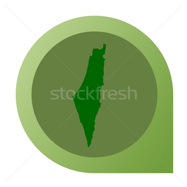Isolated Israel map marker pin Stock photo © speedfighter