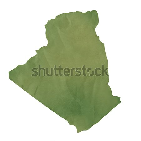 Old green paper map of Algeria Stock photo © speedfighter