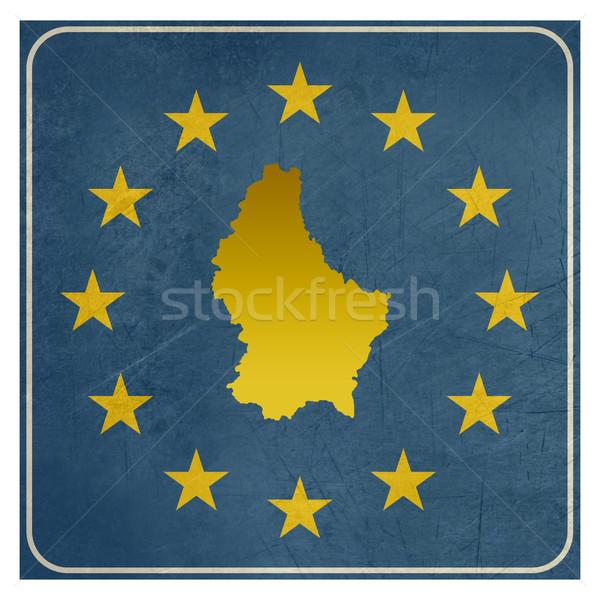 Luxemburg europese teken geïsoleerd witte sterren Stockfoto © speedfighter
