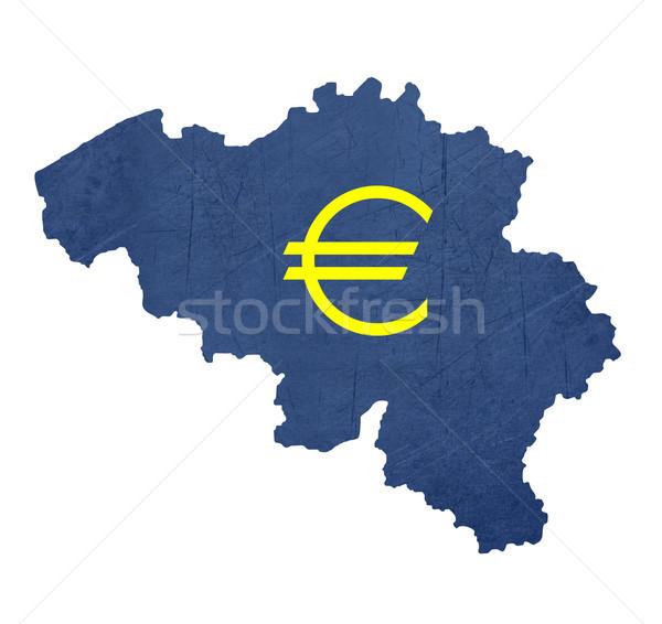 Europeo moneda símbolo mapa Bélgica aislado Foto stock © speedfighter