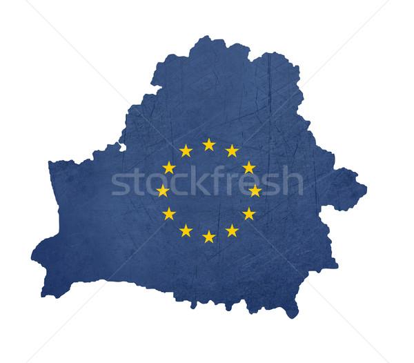 European flag map of Belarus Stock photo © speedfighter