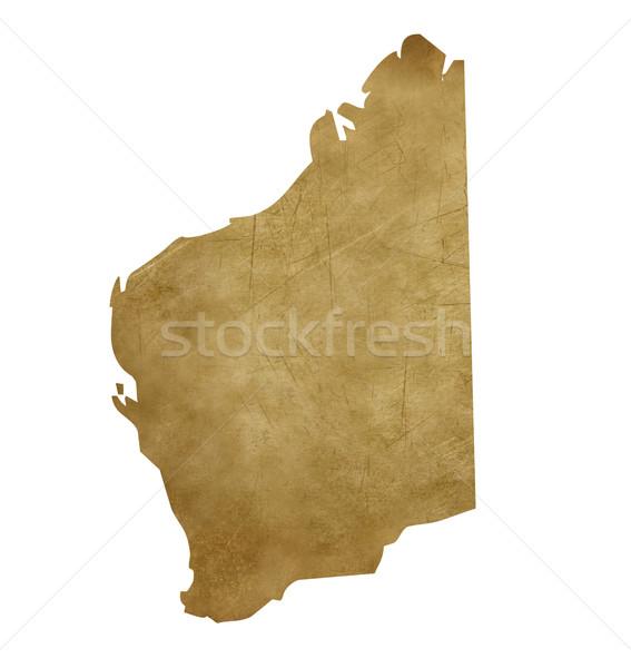 Grunge Western Australia treasure map Stock photo © speedfighter