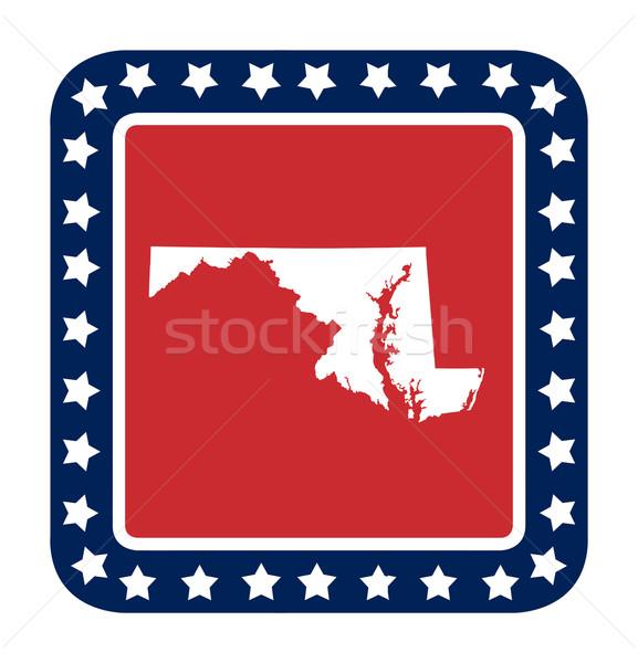 Stok fotoğraf: Maryland · düğme · amerikan · bayrağı · web · tasarım · stil · yalıtılmış