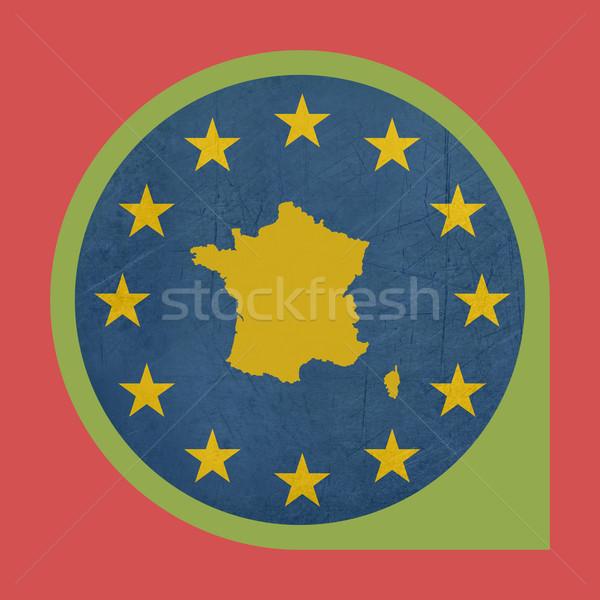 European Union France marker pin button Stock photo © speedfighter