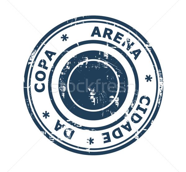 Arena Cidade da Copa stadium stamp Stock photo © speedfighter