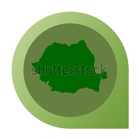 孤立した イラク 地図 マーカー ピン Webデザイン ストックフォト © speedfighter
