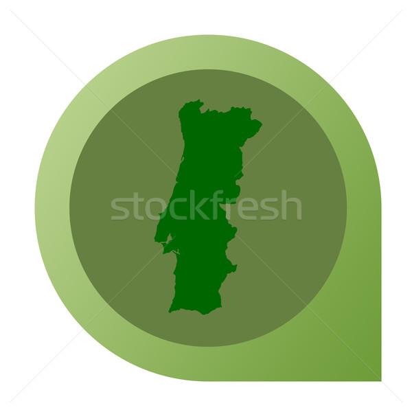 孤立した ポルトガル 地図 マーカー ピン Webデザイン ストックフォト © speedfighter