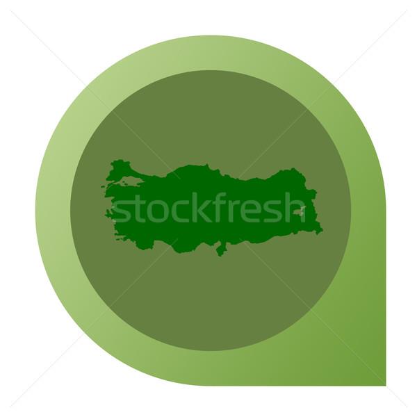 Isolated Turkey map marker pin Stock photo © speedfighter
