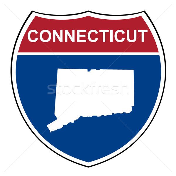 Connecticut interestadual rodovia escudo americano estrada Foto stock © speedfighter