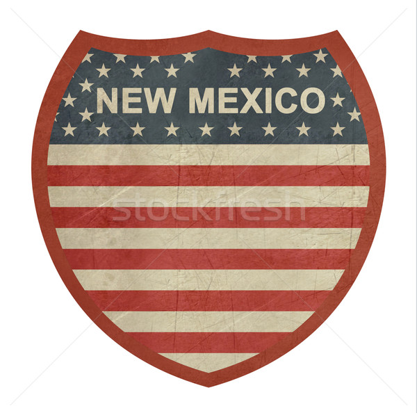 Grunge New Mexico American interstate highway sign Stock photo © speedfighter
