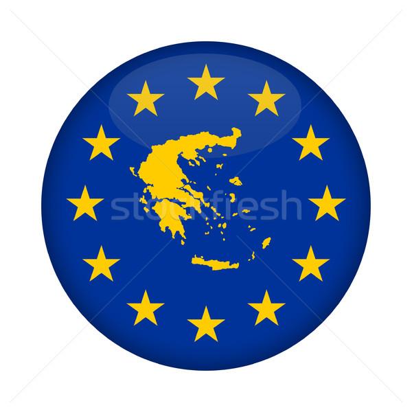 Görögország térkép európai szövetség zászló gomb Stock fotó © speedfighter