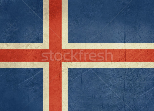 Grunge Iceland Flag Stock photo © speedfighter