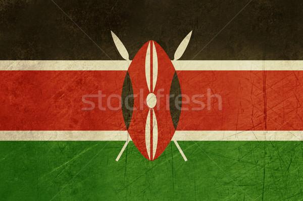 Stock fotó: Grunge · Kenya · zászló · vidék · hivatalos · színek