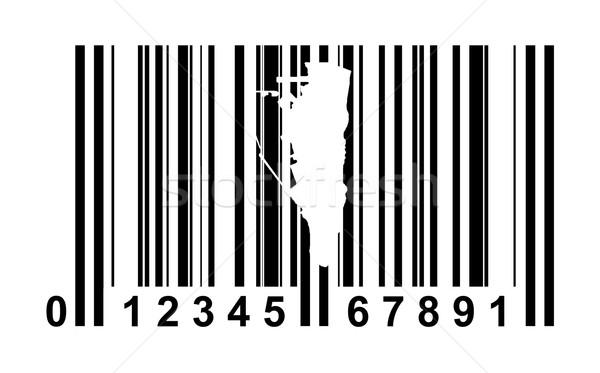 Stock fotó: Gibraltár · vonalkód · vásárlás · izolált · fehér · utazás