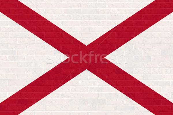 Alabama state flag on brick wall Stock photo © speedfighter