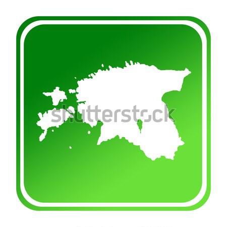 Isolated South Korea map marker pin Stock photo © speedfighter