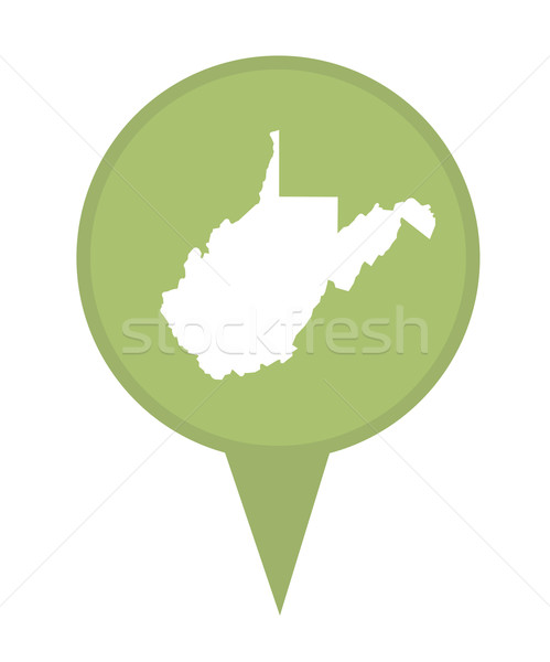 Nyugat-Virginia térkép tő amerikai jelző izolált Stock fotó © speedfighter