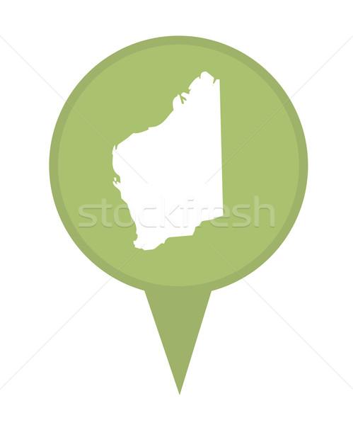 Australia State of Western Australia map marker pin Stock photo © speedfighter