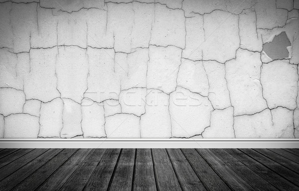 Grunge stage with wooden floor Stock photo © Sportactive