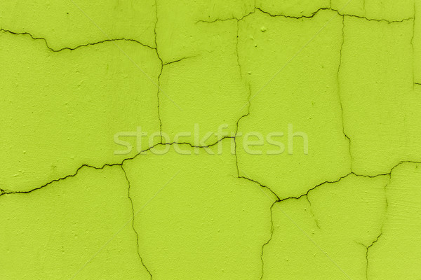 Cracked wall in neon green color Stock photo © Sportactive
