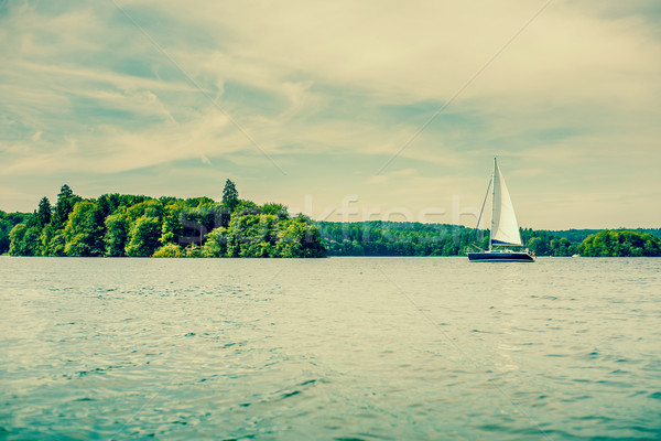 Small sailboat on a lake Stock photo © Sportactive