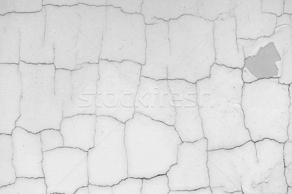Grey concrete wall with cracks Stock photo © Sportactive
