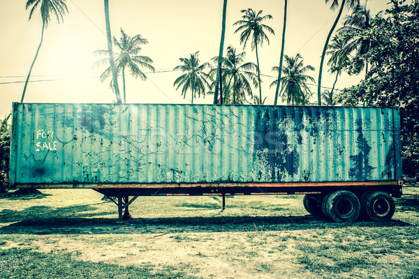 Old grunge truck in tropical inviroment Stock photo © Sportactive