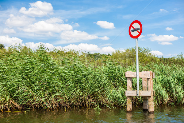 No boating sign at a lake Stock photo © Sportactive