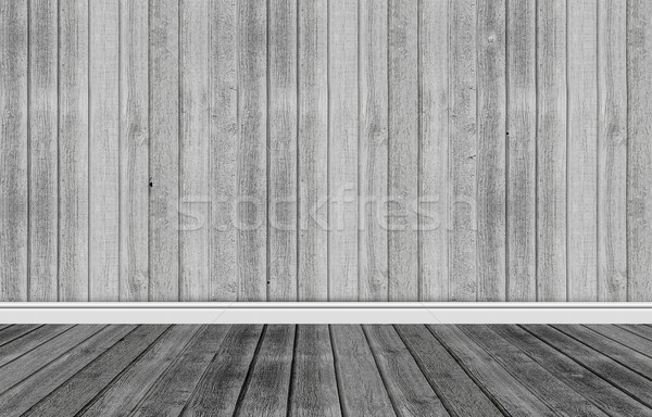 Wood background with skirting floor Stock photo © Sportactive