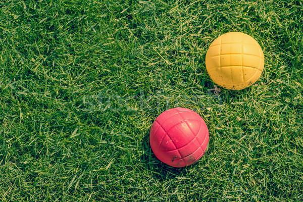 Boccia garden game on the lawn Stock photo © Sportactive