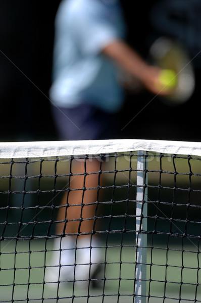 Net sfondo tennis palla giudice Foto d'archivio © Sportlibrary