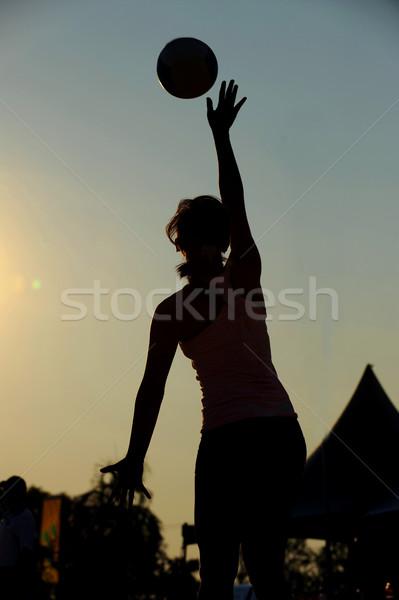 Palla femminile gioco gonna concorrenza Foto d'archivio © Sportlibrary