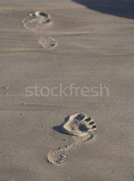 Impronta piedi sabbia Foto d'archivio © Sportlibrary