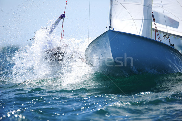 Barca Ocean acqua sport blu velocità Foto d'archivio © Sportlibrary